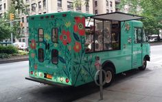 Uprooted Flower Truck is New York's fully mobile florist on wheels, and they're setting up shop to offer flowers to their clients wherever they may be. Armed with a bright and playful truck design, this mobile business is an awesome alternative to a local florist shop.