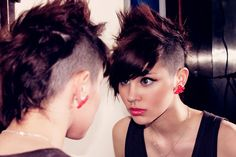 women spiked mohawk | The Pixie Revolution: Hot or Not: The Mohawk & Fauxhawk on Women