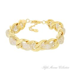 """Fifth Avenue Collection's """"Social Media"""" bracelet, sparkling with AAA cubic zirconia… what more could a girl want!"""