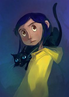 Coraline. Love Love Love this movie. The perfect mix of creepiness and creativity(created by Neil Gaiman)