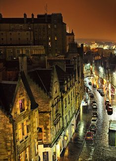 Night Lights, Edinburgh, Scotland  - Explore the World with Travel Nerd Nici, one Country at a Time. http://travelnerdnici.com/