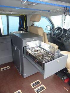 Küchenmodul für VW T5 mit Spirituskocher
