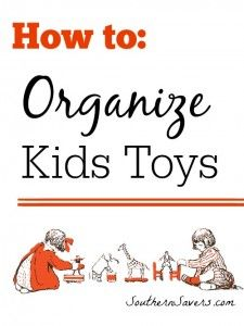 When I feel like the kids' things are taking over the house, I go into cleaning mode.  Here's a post all about how to organize kids toys.