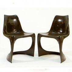 Danish Modern Molded Plastic Chairs   Steen Ostergaard