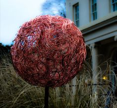 My latest sculpture 'Copper Alliums' made from hand woven pure copper