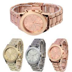Perfect Gift  watch women watch luxury brand ladies watch Women Girl Unisex Stainless Steel Quartz Wrist Watch June27 H0 #Affiliate