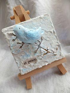 Mini Canvases w/Fiber Paste & Paper Clay