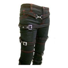 Gothic Punk Destruction steampunk Bondage Pants S-XXL found on Polyvore