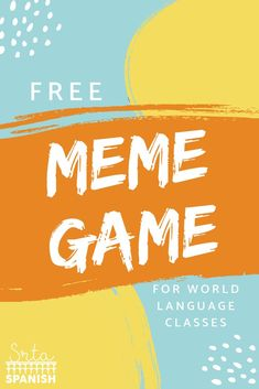 Check out this quick and easy game to use in your middle school or high school w … – image pin 2 High School French, Middle School Spanish, Spanish Teaching Resources, Teaching Strategies, Spanish Activities, Spanish Games, Teaching Ideas, Teaching Time, Class Activities