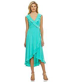 From the Heart Ruffled FauxWrap Dress #Dillards
