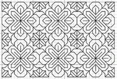 free blackwork pattern - loads of free borders and fill patterns on this site.