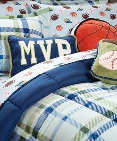 Love this Blue Plaid Serasoft Comforter Set by Berkshire Blanket on #zulily! #zulilyfinds