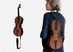 Brown Felt Violin Bag