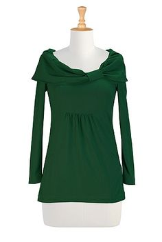 Draped collar knit tunic (eShakti - $49.95)