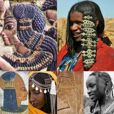 African traditional hairstyles then and now: In Africa, from East to West, across the Sahel region, the women of the ethnic groups that have preserved their ancestral customs are a testimony to the fact that no study of ancient Egyptian culture is complete outside of the context of modern African traditions. The sidelock of youth: 18th dynasty Great Royal Wife Ankhesenamun; a Mbororo young woman of Cameroun, West Africa; 19th dynasty Royal son Khaemwaset, from a tomb in the Valley of the…