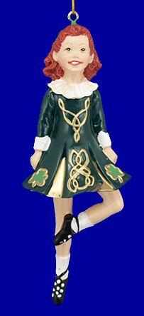 Irish christmas decorations irish dancer in traditional irish dress