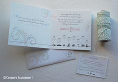 Faire-part Mariage bohème pastel  Wedding Invitation Sur-mesure par Croquez la pomme !