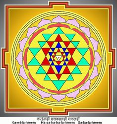 Sri Yantra represents the union of Masculine and Feminine Divine. Because it is composed of nine triangles, it is known as the Navayoni Chakra.