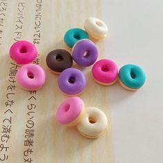 kleine donuts figuren basteln mit fimo