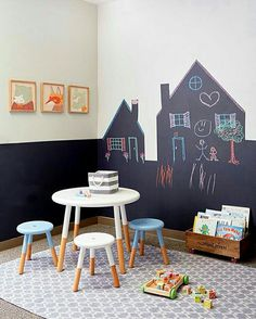 There are lots of playroom ideas you could have for your kids' playroom. When it regards playroom seating, the chances are endless. It is simpler to maintain a playroom organized that is broken up into play areas, or sections. Playroom Storage, Playroom Decor, Kids Decor, Decor Ideas, Playroom Ideas, Small Playroom, Ideas Decoración, Playroom Paint, Wall Decor Kids Room