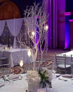 Elegant Manzanita Tree Wedding Centerpieces