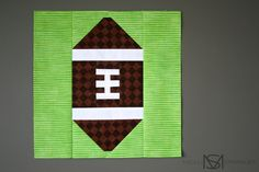 Yesterday I showed you a football block I designed for my brother's t-shirt quilt. It's fairly simple in construction, so I whipped up a mostly pictorial guide on how to assemble one if… Quilting Tips, Quilting Tutorials, Quilting Projects, Quilting Designs, Sewing Projects, Sewing Crafts, Sewing Ideas, Sewing Patterns, Paper Piecing Patterns