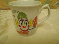 Clown Mug From Japan Vintage Ceramic Mug by SETXTreasures on Etsy