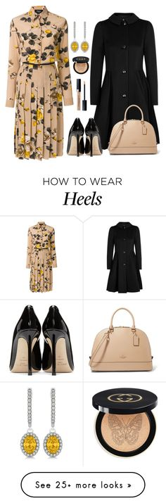 """Başlıksız #415"" by nezahat-kaya on Polyvore featuring Armani Collezioni, Jimmy Choo, Rochas, Allurez, Gucci, Christian Dior, polyvoreeditorial, Superb and harika"