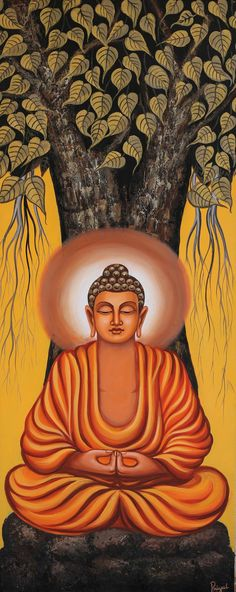 Buy Meditating Buddha an Acrylic Painting on Canvas by priyal ostwal from India For sale Price i Buy Meditating Buddha an Acrylic Painting on Canvas by priyal ostwal from India For sale Price i Karo ostseekindkaro Buddha nbsp hellip Buddha Painting Canvas, Indian Art Paintings, Buddha Art Painting, Amazing Art Painting, Buddhist Art Drawing, Art, Buddhism Art, Canvas Art, Acrylic Painting Canvas