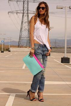 Boyfriend jeans and classic vest