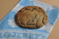 GIANT CHOCOLATE CHIP COOKIES Ben and Jerry's Restaurant Recipe 1 cup butter ( softened ) 1/2 cup granulated sugar 2/3 cup brown sug...
