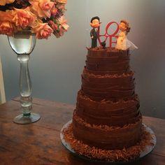 Gabrielle Heringer Cake Designer: Bolo Casamento com Chocolate