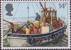 Fishing 14p Stamp (1981) Cockle-dredging from Linsey II