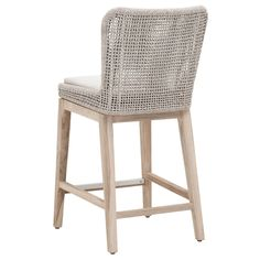 Siena Outdoor Counter Stool Back View