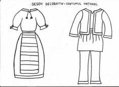 Imagini pentru costume populare de desenat Kindergarten Activities, Activities For Kids, Crafts For Kids, Preschool, 1 Decembrie, Romania, Paper Crafts, Teaching, Costumes