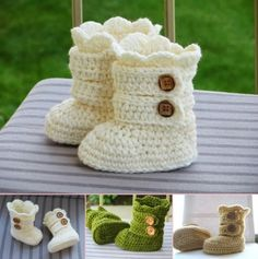 Crochet Baby Snow Boots Pattern