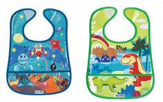 Munchkin 2 Crumb Catcher Bibs available online at http://www.babycity.co.uk/