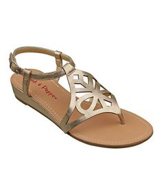 Take a look at this Gold Myia Sandal by Pink & Pepper on #zulily today!