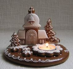 Gingerbread Crafts, Gingerbread Village, Gingerbread Decorations, Gingerbread Cake, Christmas Gingerbread, Ginger Cookies, Iced Cookies, Royal Icing Cookies, Cupcake Cookies