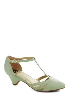 ModCloth. Just Prance Heel in Honeydew, my sister had these for bridesmaid shoes in her wedding and I just adore them, will wear again!