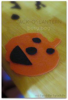 Simple Jack-o'-Lantern Busy Bag