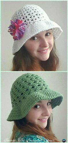 d663bf5168f8e Crochet Women Sun Hat Free Patterns