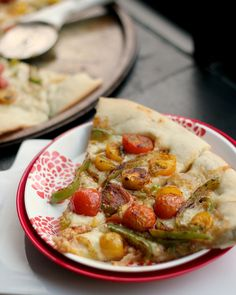 Chipotle-Roasted Pepper and Tomato Pizza