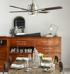 """Never has a ceiling fan made me stop and say """"oh, wow""""—until I saw this one. The Peregrine Industrial fan from Rejuvenation is sleek, stylish and pretty(?!).  No matter how much we like the look of a pretty pendant or chandelier, some of us just simply live in environments (or with husbands) that require …"""