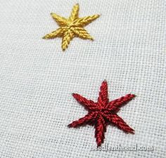 A great way to do Ayreton Stars in Embroidery.
