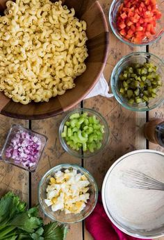How to make the very BEST Macaroni Salad! We LOVE this recipe and it is always a hit! One of my most requested recipes! Macaroni Salad Ingredients, Homemade Macaroni Salad, Macaroni Recipes, Pasta Salad Recipes, Mac Salad Recipe, Macaroni Pasta, Potluck Recipes, Side Recipes, Cooking Recipes
