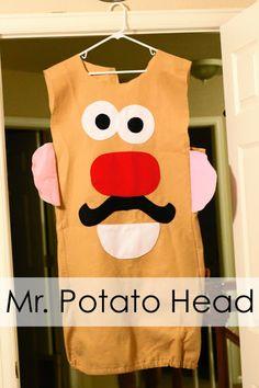 The Train To Crazy: Handmade Dress Up: DIY Potato Head Costume Tutorial