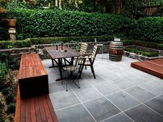 Outdoor Building , Cleaning Your Outdoor Patio : Backyard Patio With Wooden…