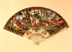 Legyező, probably Italy, ca. 1730. The Rape of the Sabin Women. Museum of Applied Arts, Budapest.