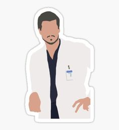 """""""McSteamy"""" Stickers by drmedusagrey Grey's Anatomy, Anatomy Drawing, Printable Stickers, Cute Stickers, Greys Anatomy Derek, Mark Sloan, Greys Anatomy Characters, Tumblr Stickers, Cartoon Girl Drawing"""